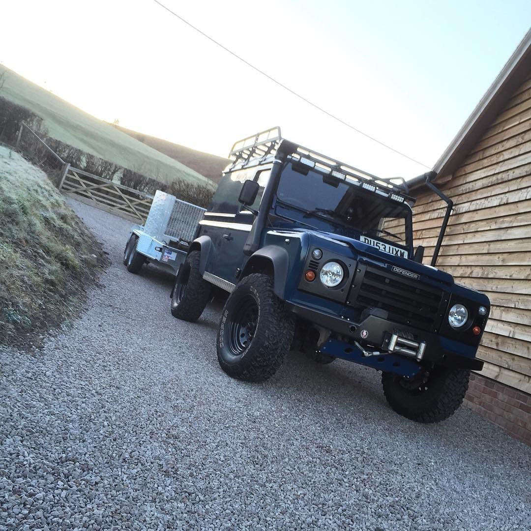 Shiny new trailer to tow behind my shiny #landy #landrover #landroverdefender #defender #defender90 #td5 by jayb_defender90 Shiny new trailer to tow behind my shiny #landy #landrover #landroverdefender #defender #defender90 #td5
