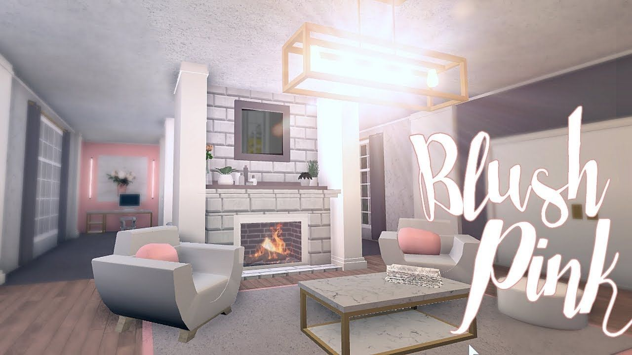 Bloxburg: Blush Pink Room 11K. Small Living Room Decorating Ideas