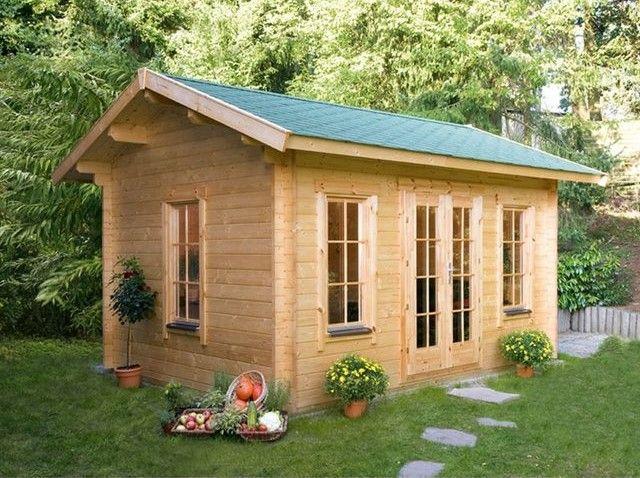 Abri jardin bois Lugano 2 15.96 m² H&J Habitat Et Jardin prix Soldes ...