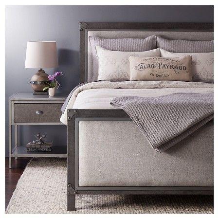 Brooklyn Metal Nightstand Grey The Industrial Shop Target Industrial Bedroom Bedroom