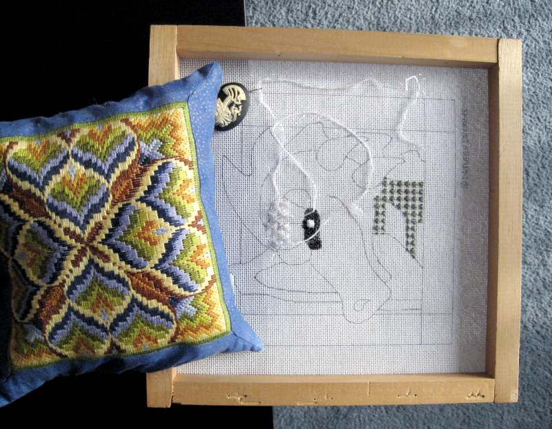 Make a frame weight for your needlepoint frames using needlepoint ...