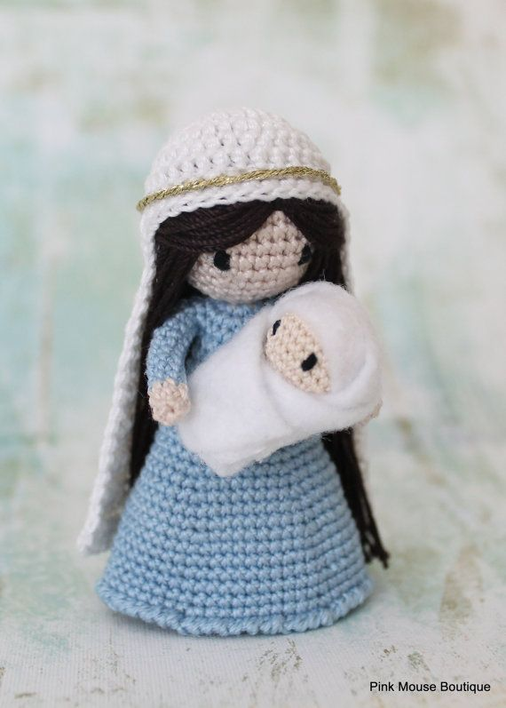 PATTERN: Crochet Nativity Crochet Amigurumi Waldorf | Ganchillo ...