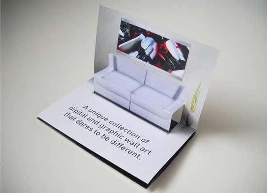 Pop Up Business Card Design Furniture Business Cards Creative Business Card Design Business Card Inspiration
