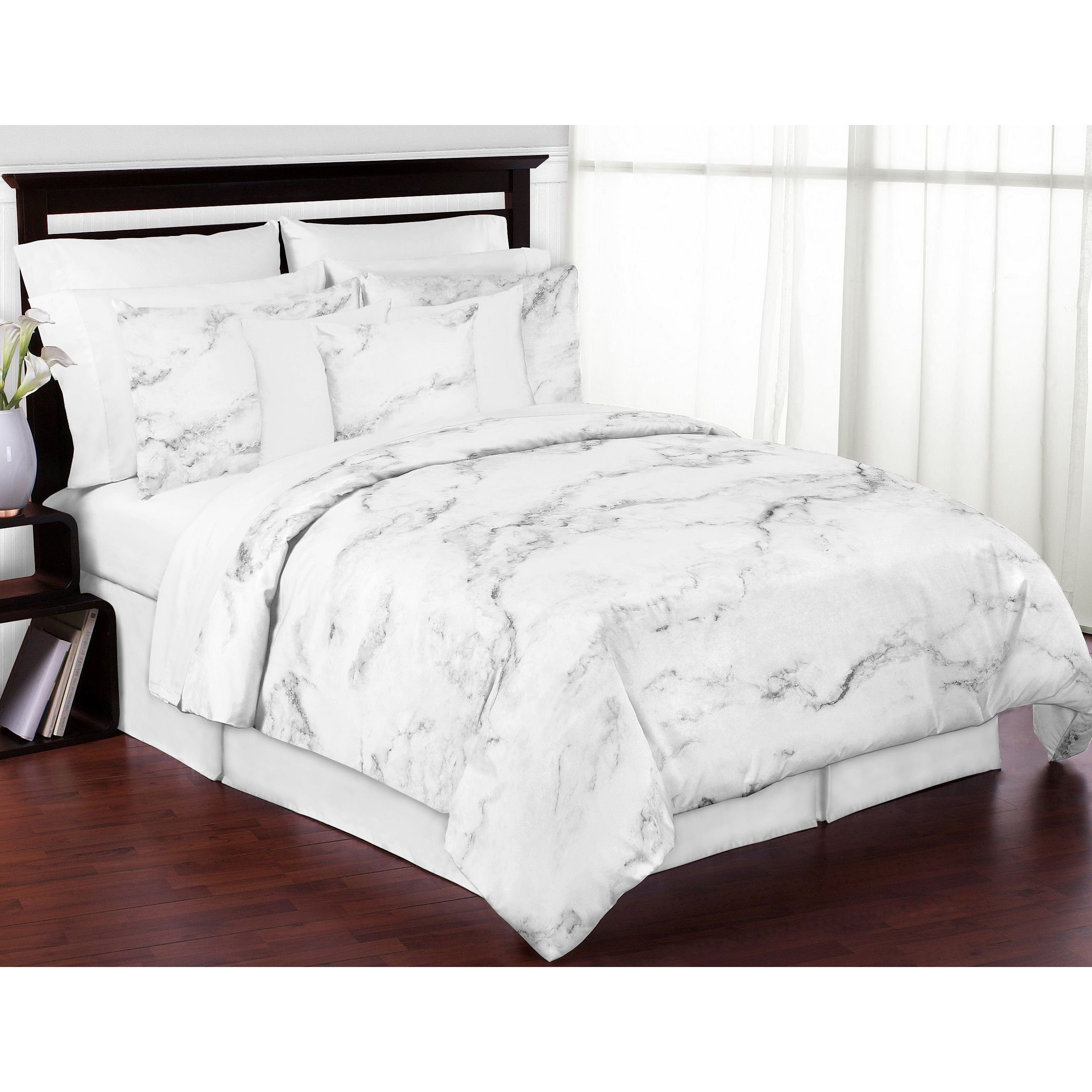 Attractive Sweet Jojo Designs And White Marble Collection 3 Piece Comforter Set
