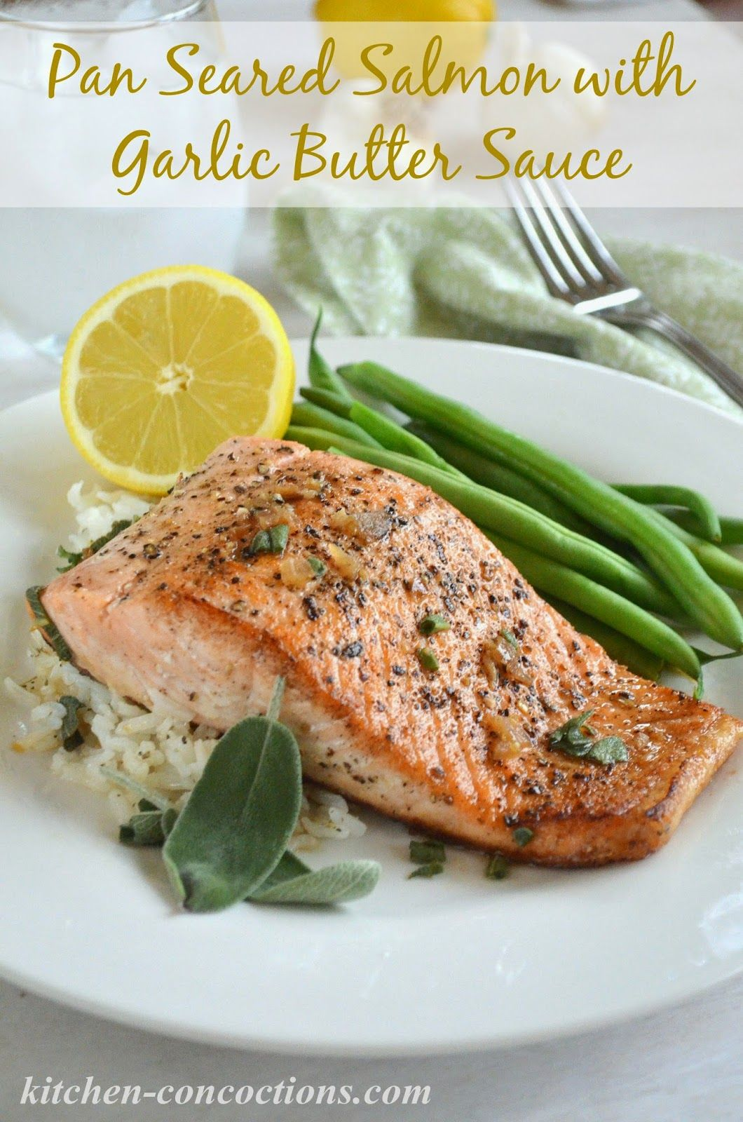 Pan Seared Salmon with Garlic Butter Sauce #ad #FoamSensations ...