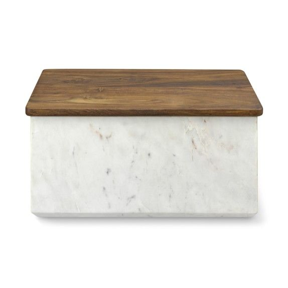 Marble Bread Box In 2020 Bread Boxes Marble Box Kitchen Marble