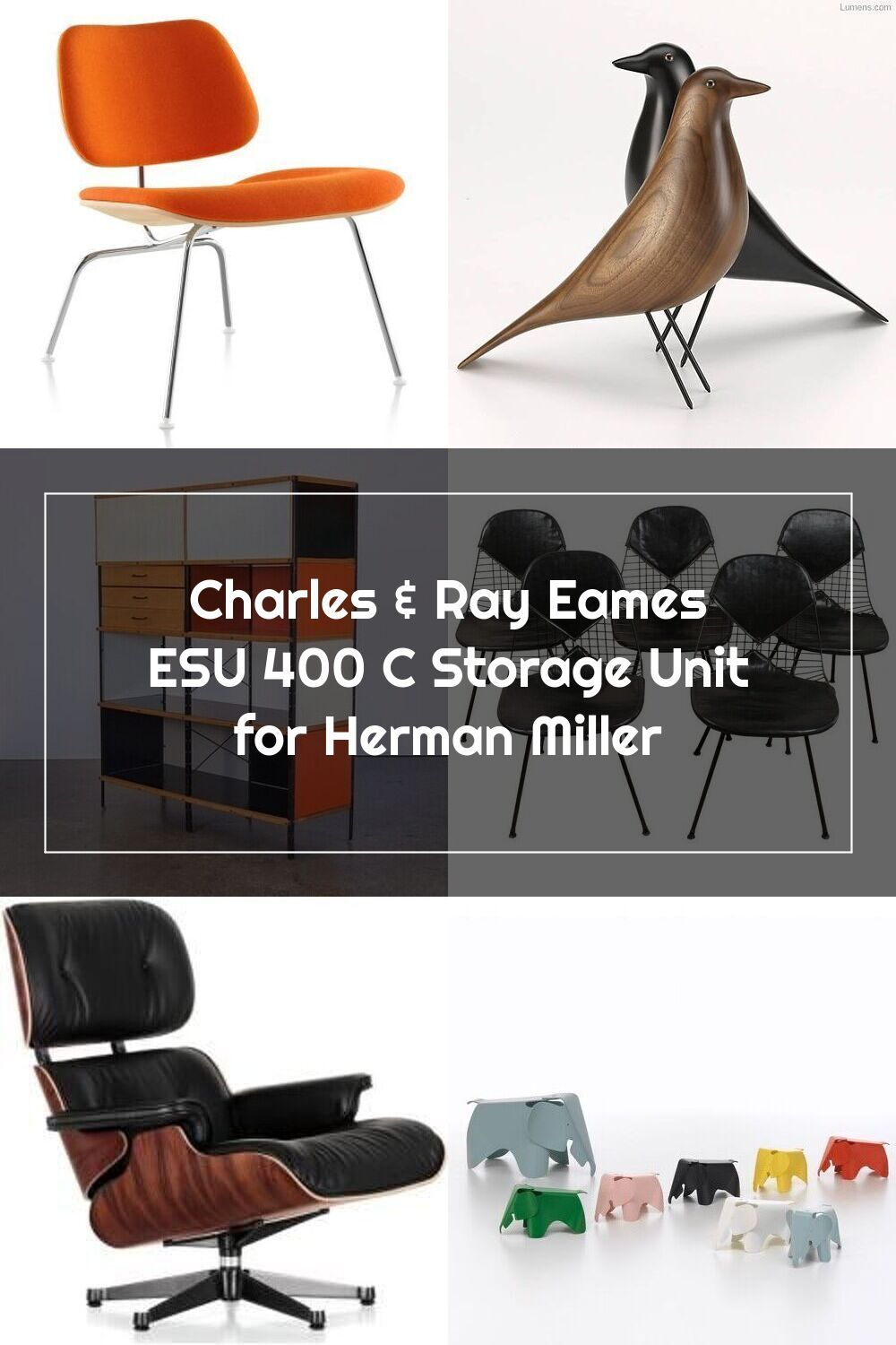 Charles Ray Eames Esu 400 C Storage Unit For Herman Miller In 2020 Eames Ray Eames Eames Lounge Chair