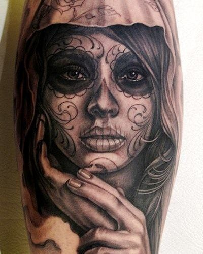 Santa muerte tattoo santa muerte pinterest santa for Non ducor duco tattoos designs
