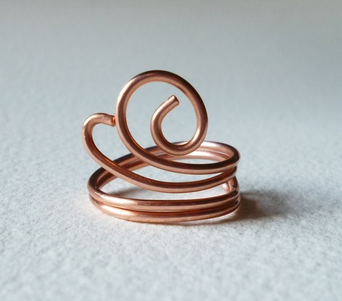 Hand formed Ring Copper wire | Copper wire, Xmas and Ring