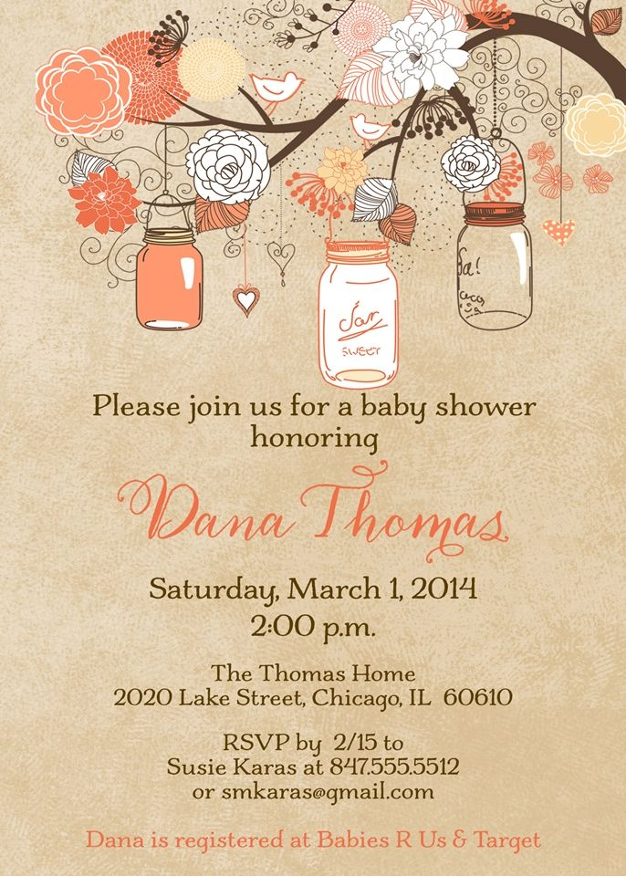 Mason jar baby shower bridal shower invitation coral baby mason jar baby shower bridal shower invitation coral filmwisefo