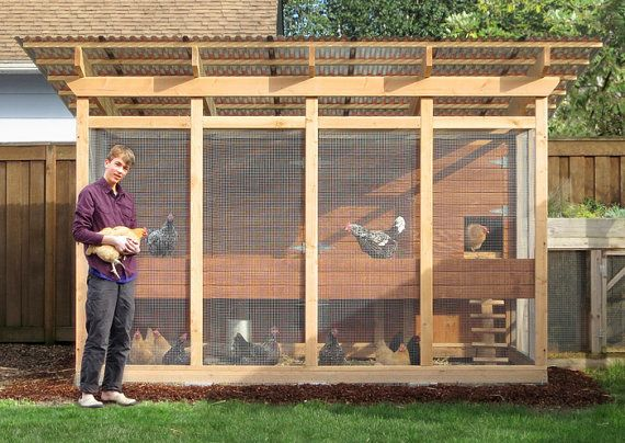 The Garden Loft Walk In Chicken Coop Plan eBook PDF – Instant Download Imperial and Metric Units Feet Inches and MM