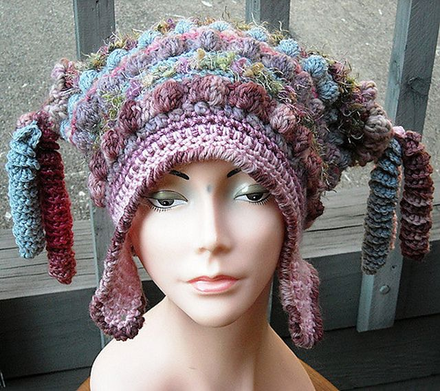 Freeform/Freestyle Crochet Hat with Earflaps pattern by ...