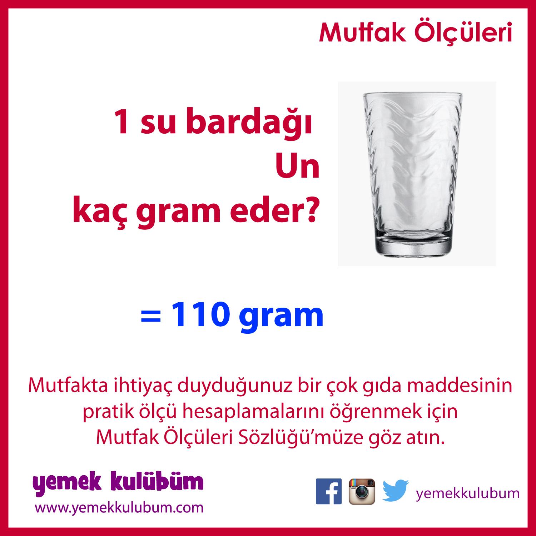 1 Su Bardağı Un Kaç Gram