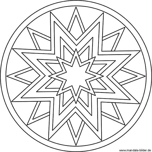 mandala zur entspannung mit einem stern als motiv