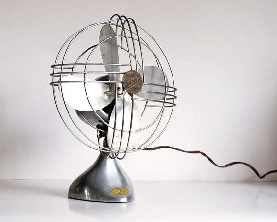 Vintage Fan Art Deco Zephyr Airkooler Chrome and Aluminum Desk Fan - Vintage Fan Art Deco Zephyr Airkooler Chrome And Aluminum Desk Fan