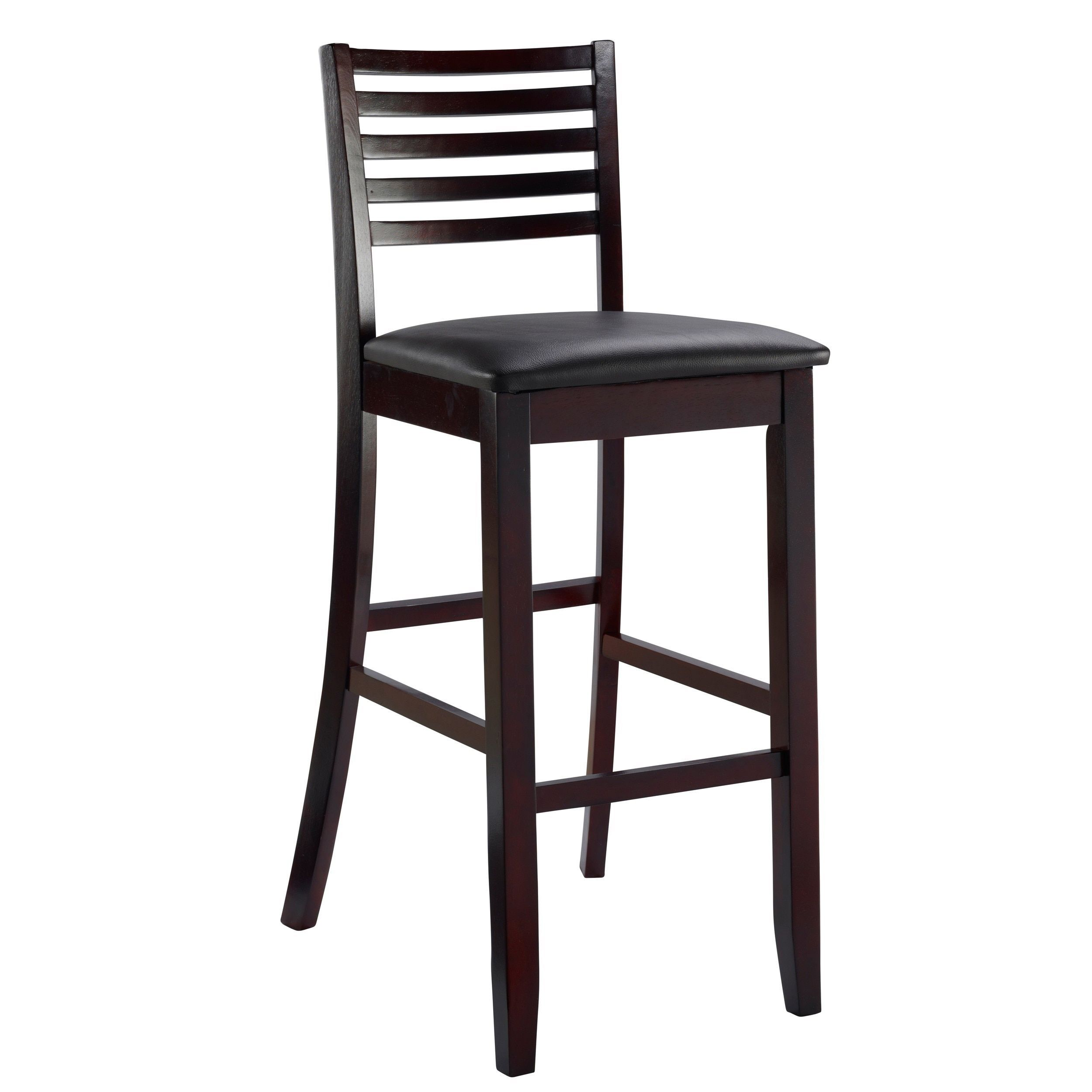 Astounding Linon Piedmont Espresso Ladder Back Counter Stool Triena Camellatalisay Diy Chair Ideas Camellatalisaycom