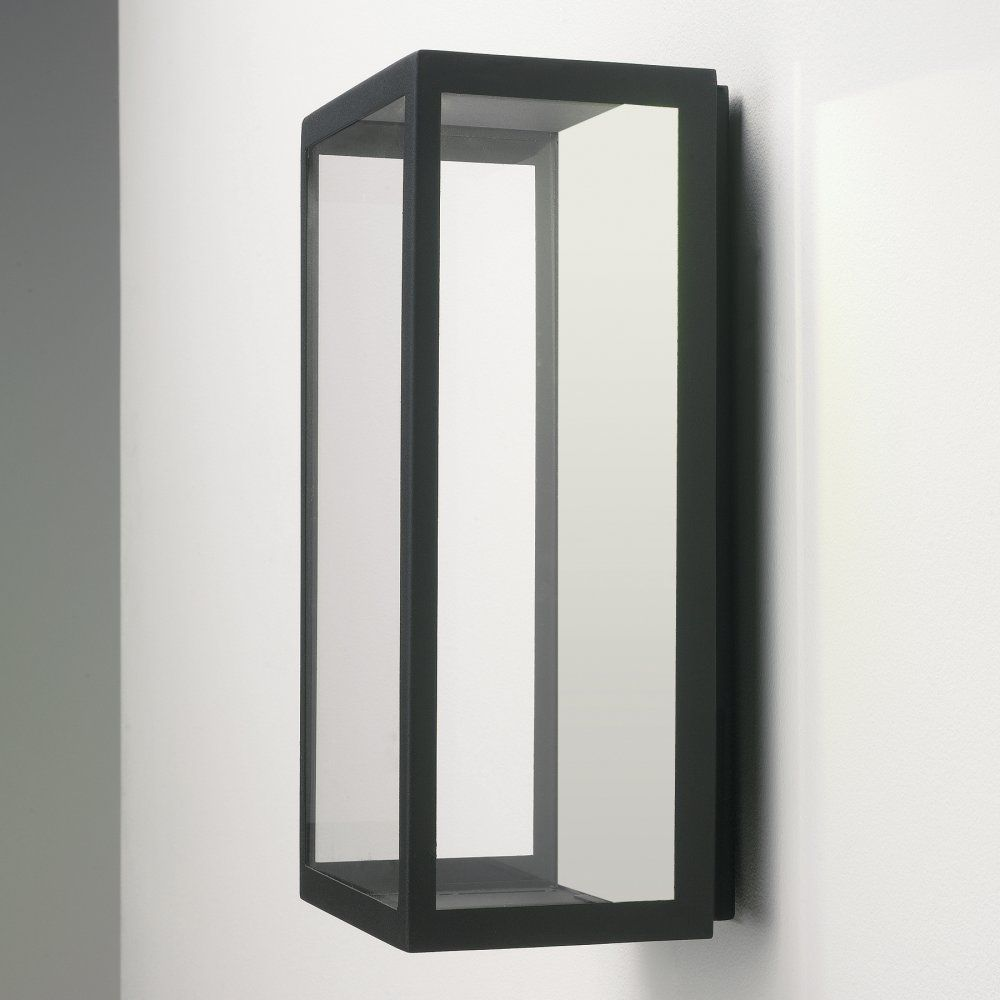 Puzzle Outdoor Wall LED Light in Black with Clear Glass, 3W LED IP44 Rated   AX0931