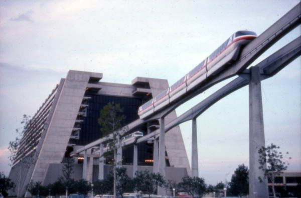 Florida Memory View Showing Monorail Near Disney S Contemporary Resort Hotel At The Magic Kingdom In