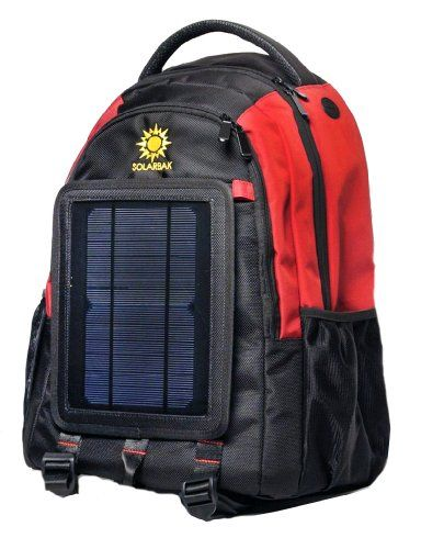SolarGoPack solar powered backpackcharges mobile devices12k mAh LIon ... 03613e000eedb