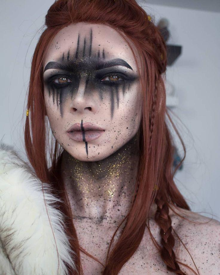 Ein Haufen von euch bat um eine Vorderansicht meines Wikinger // Elfenkriegers #makeuplooks