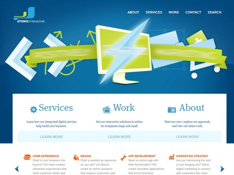 Atomic Interactive Is A Comprehensive Web Marketing And Web Design Studio Based In Dayton Ohio Web Design Studio Web Design Inspiration User Experience Design