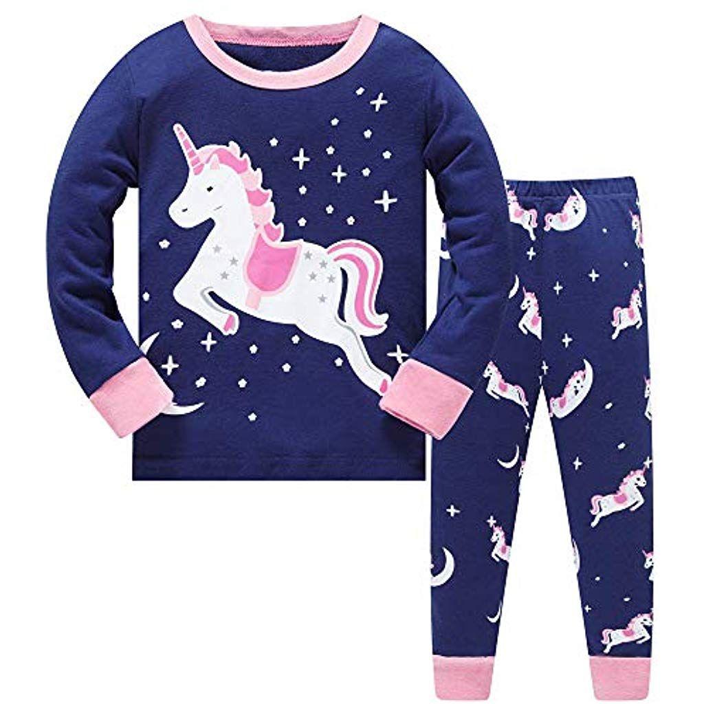 Jungen M/ädchen Bekleidung Langarm Zweiteilig Schlafanzug Pajama Sets
