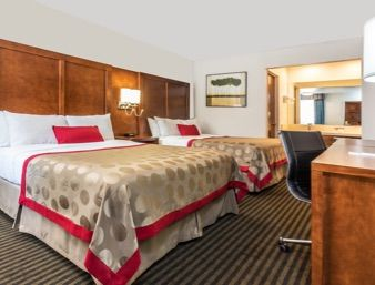2 Queen Bed Room at the Ramada Mountain View in Mountain View, California