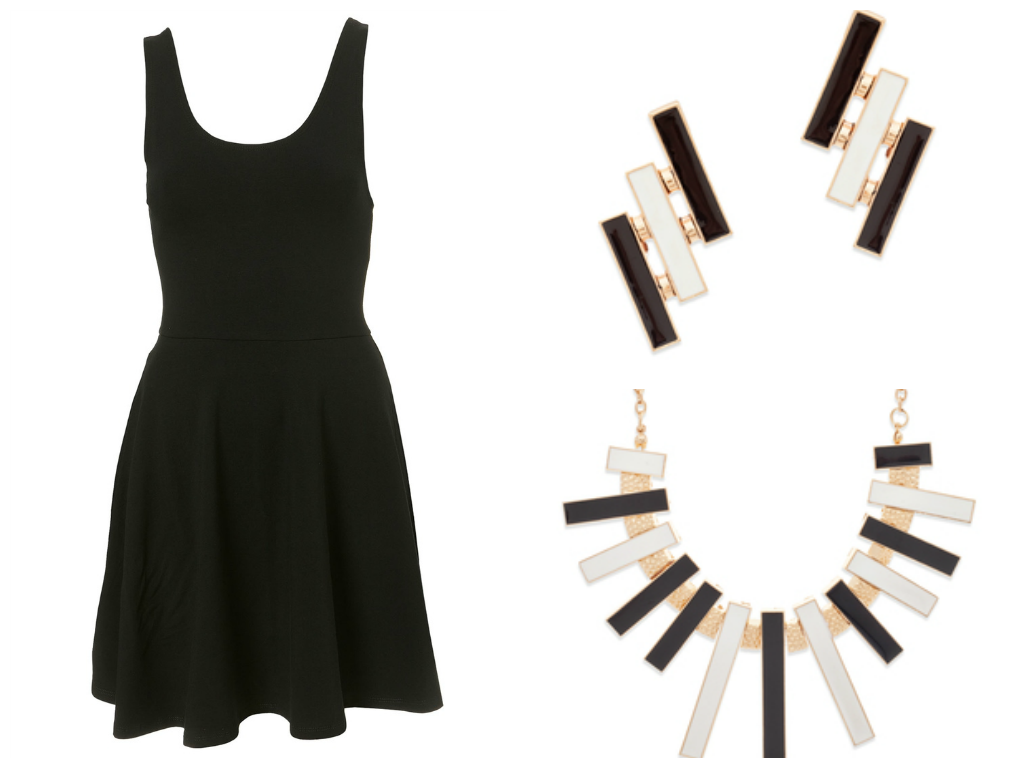 Love the accessories with the black dress visit meloandco