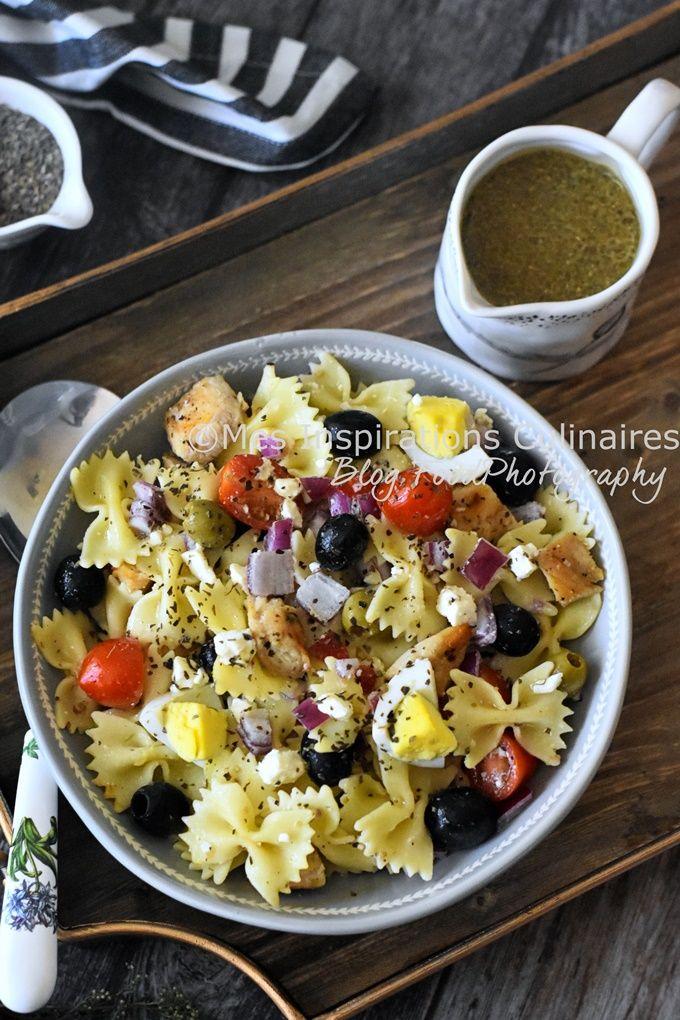 Recette Salade De Pates Froides Simple Au Poulet ...