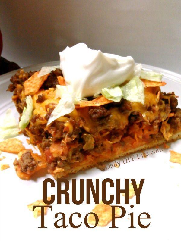 Crunchy taco pie recipe easy meals taco pie easy meals and pie crunchy taco pie recipe easy meals forumfinder Choice Image