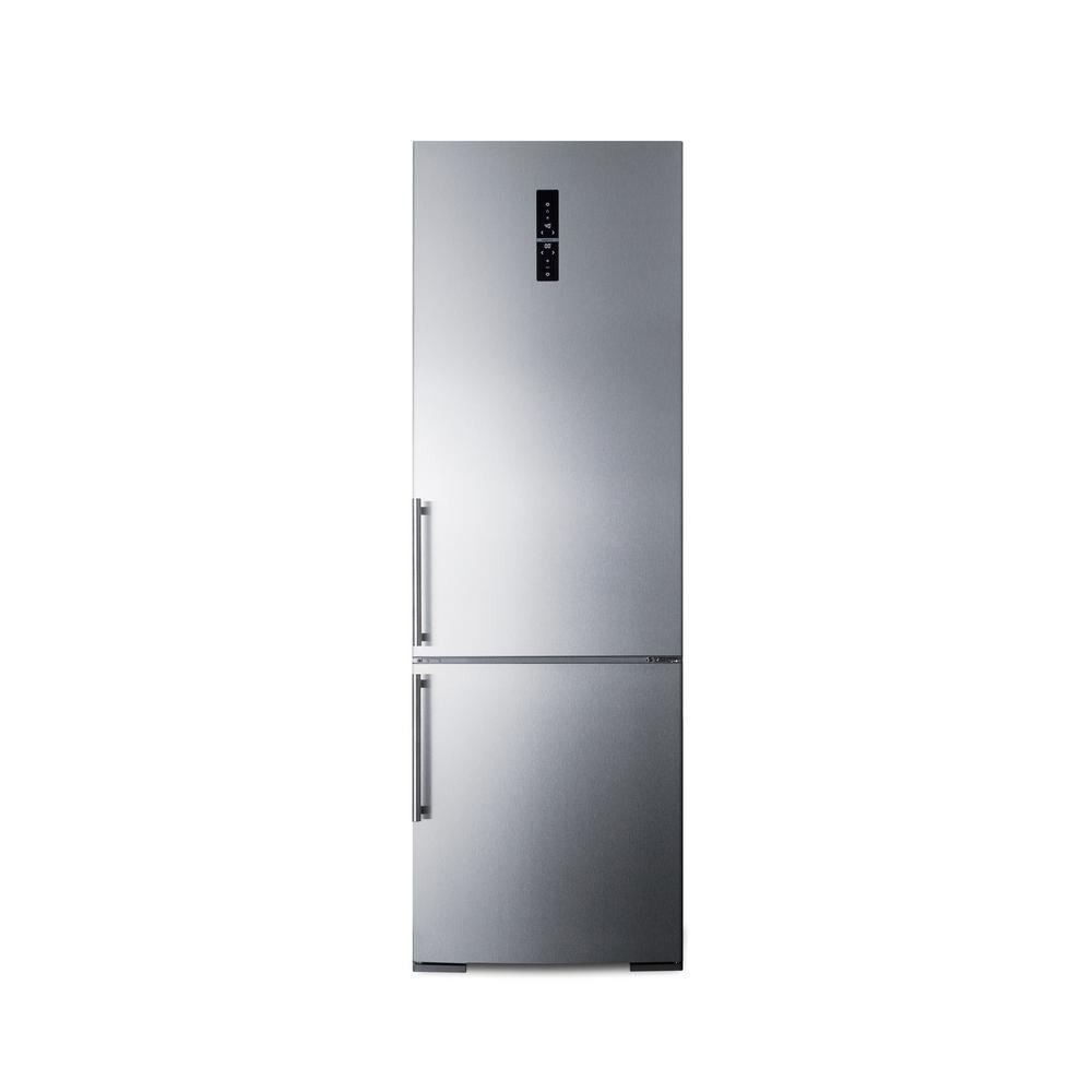 Summit Appliance 24 In W 11 6 Cu Ft Bottom Freezer Refrigerator In Stainless Steel Counter Depth Ffbf249ss Bottom Freezer Refrigerator Bottom Freezer Counter Depth
