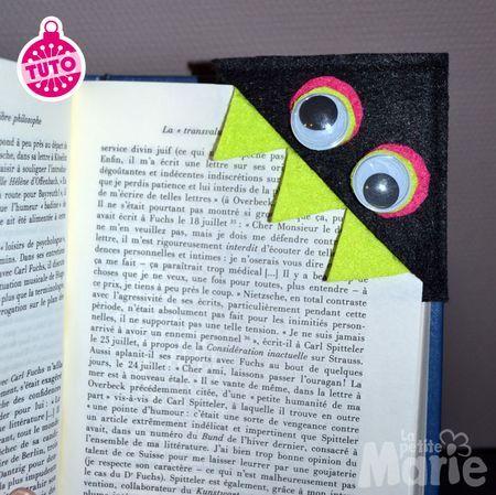marque page monstre en feutrine tuto 36 objets pratiques pinterest marque page. Black Bedroom Furniture Sets. Home Design Ideas