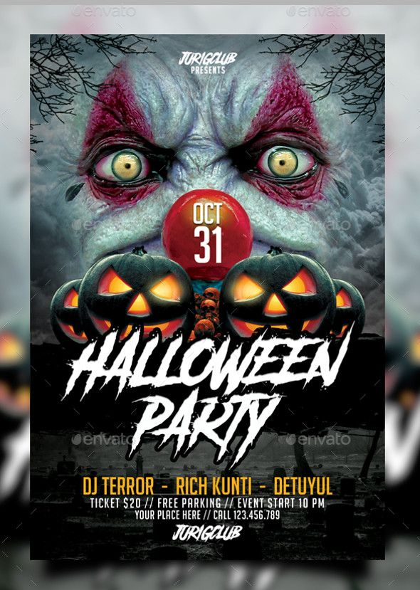 Search 100 Free Halloween Psd Party Flyer Templates