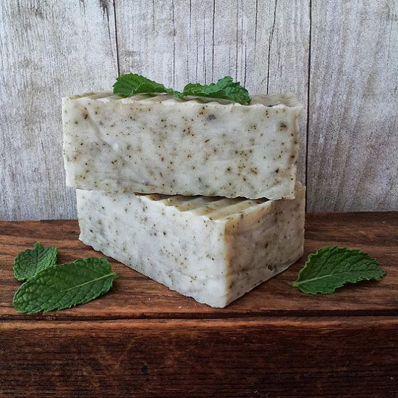 Garden Peppermint Soap by paulaparrish on Etsy, $6.50