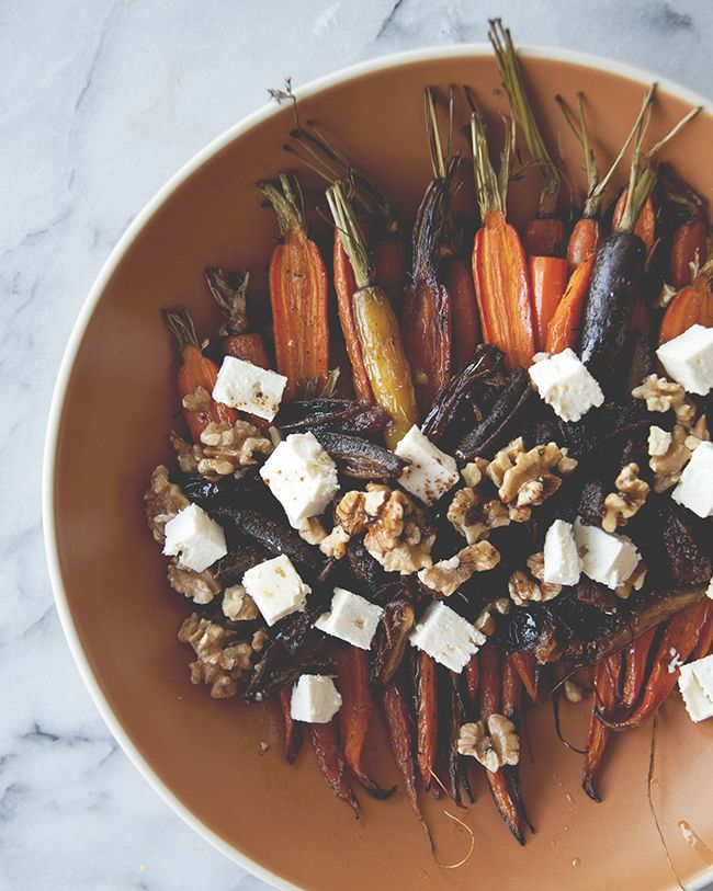 ROASTED CARROTS WITH DATES BROWN BUTTER FETA WALNUTS // SPONSORED BY ATHENOS