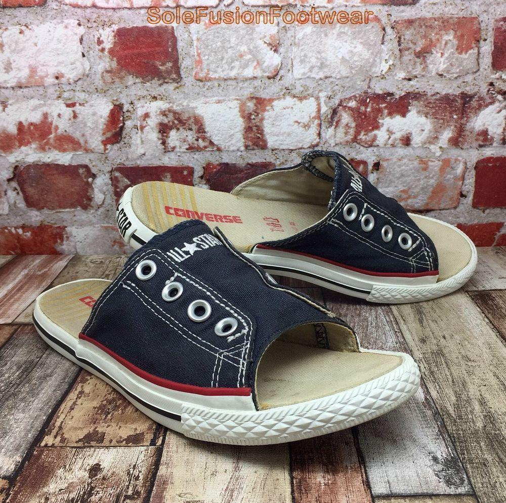 new product 4c471 b8e3c Converse All Star Womens Cutaway Sandals Navy sz 5 Chuck Taylor Flip Flops  37.5   eBay