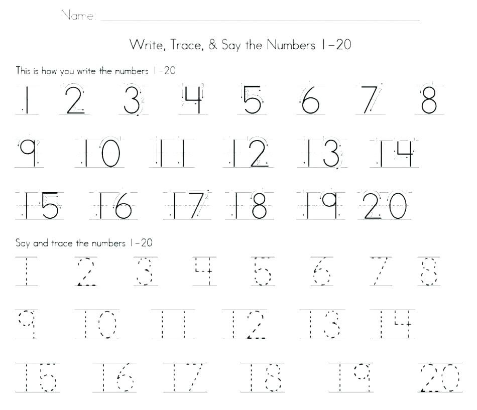 Number 9 Worksheet Free Printable Tracing Worksheets For Number 1