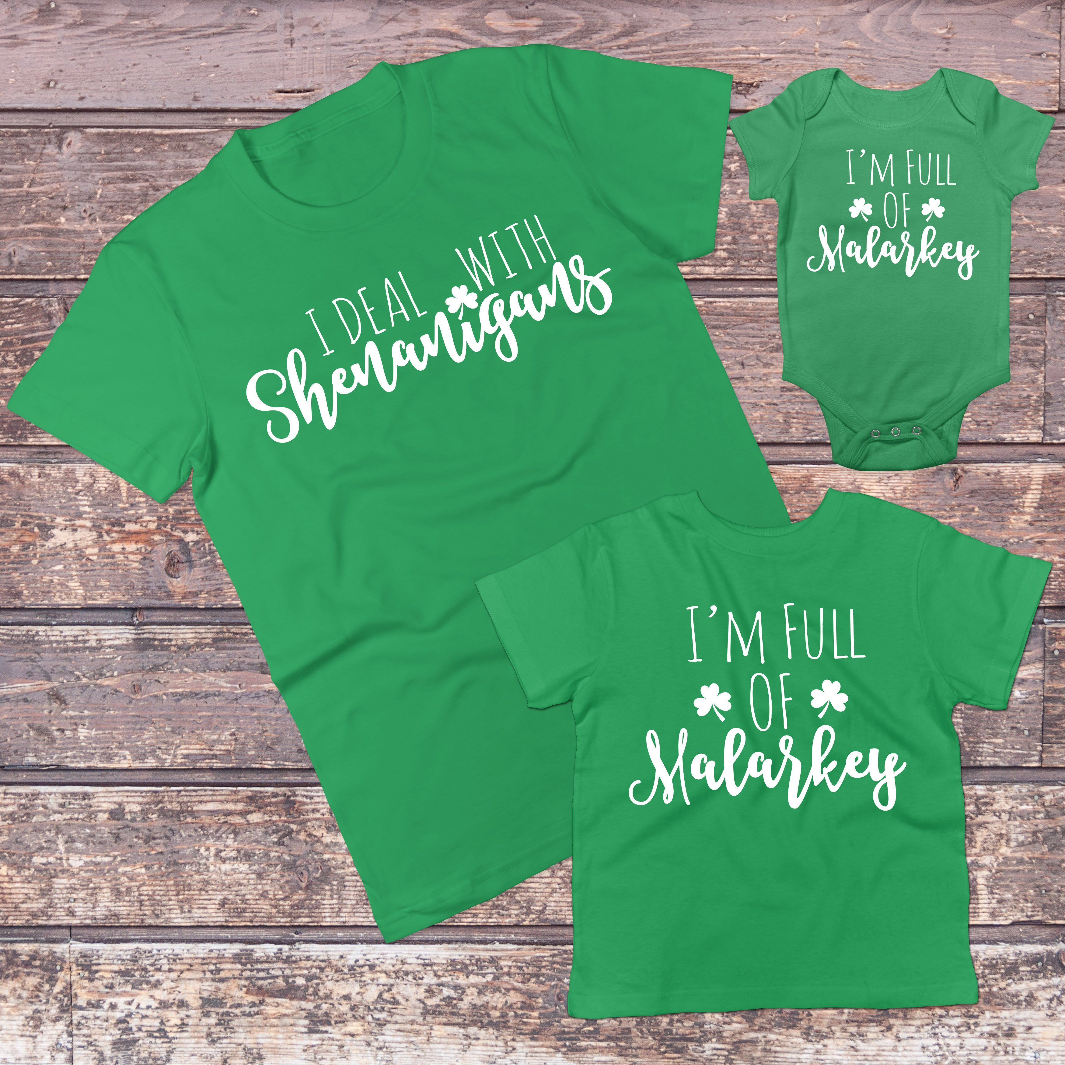 St Patricks Day Family Matching Outfits - Irish Mommy and Me Daddy and Me  Sets 017b3cad915d