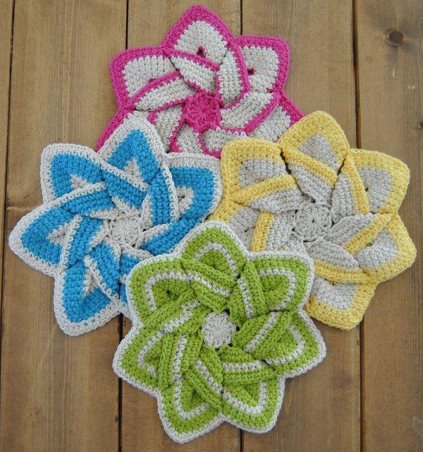 Free Kitchen Crochet Patterns Dish Cloths Hot Pads Placemats