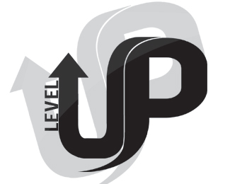Level Up By Aod Typographic Logo Level Up Dance Logo