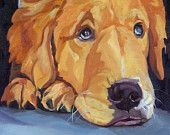Pet Portrait Golden Retriever Dog Art Print