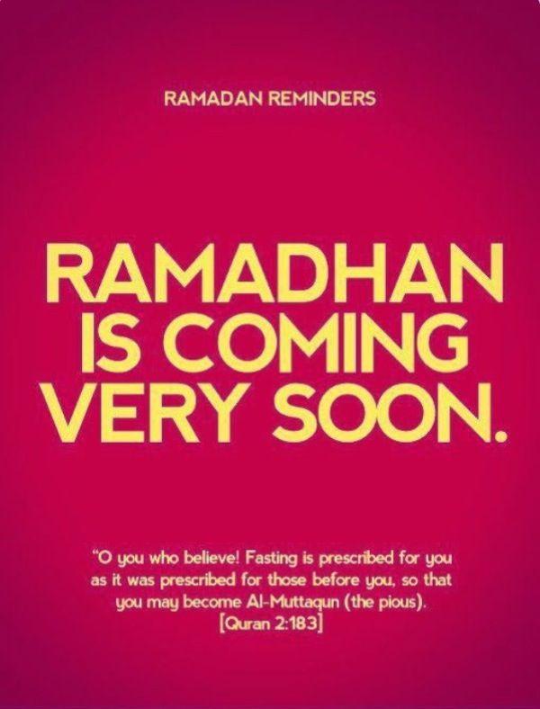 Ramadhan  Coming  Soon