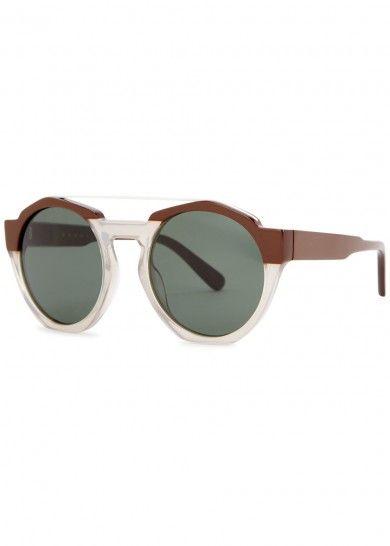 8be52cf12da Marni Brown round-frame sunglasses
