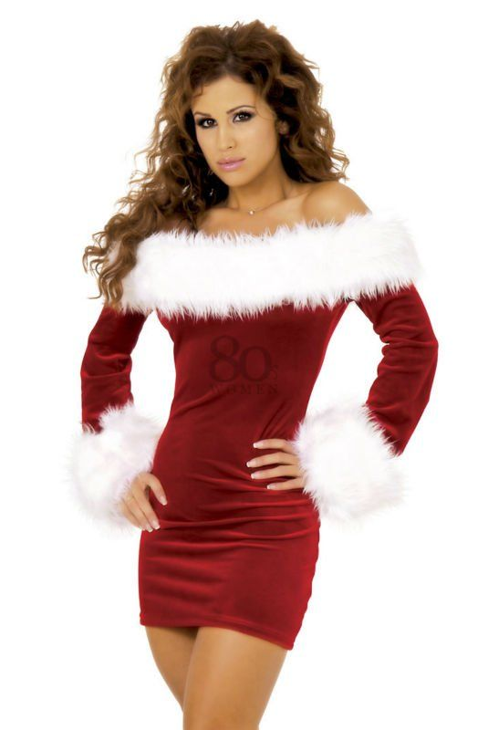 Womens Christmas Naughty Girls Get More Presents Long Sleeve Xmas Bodycon Dress