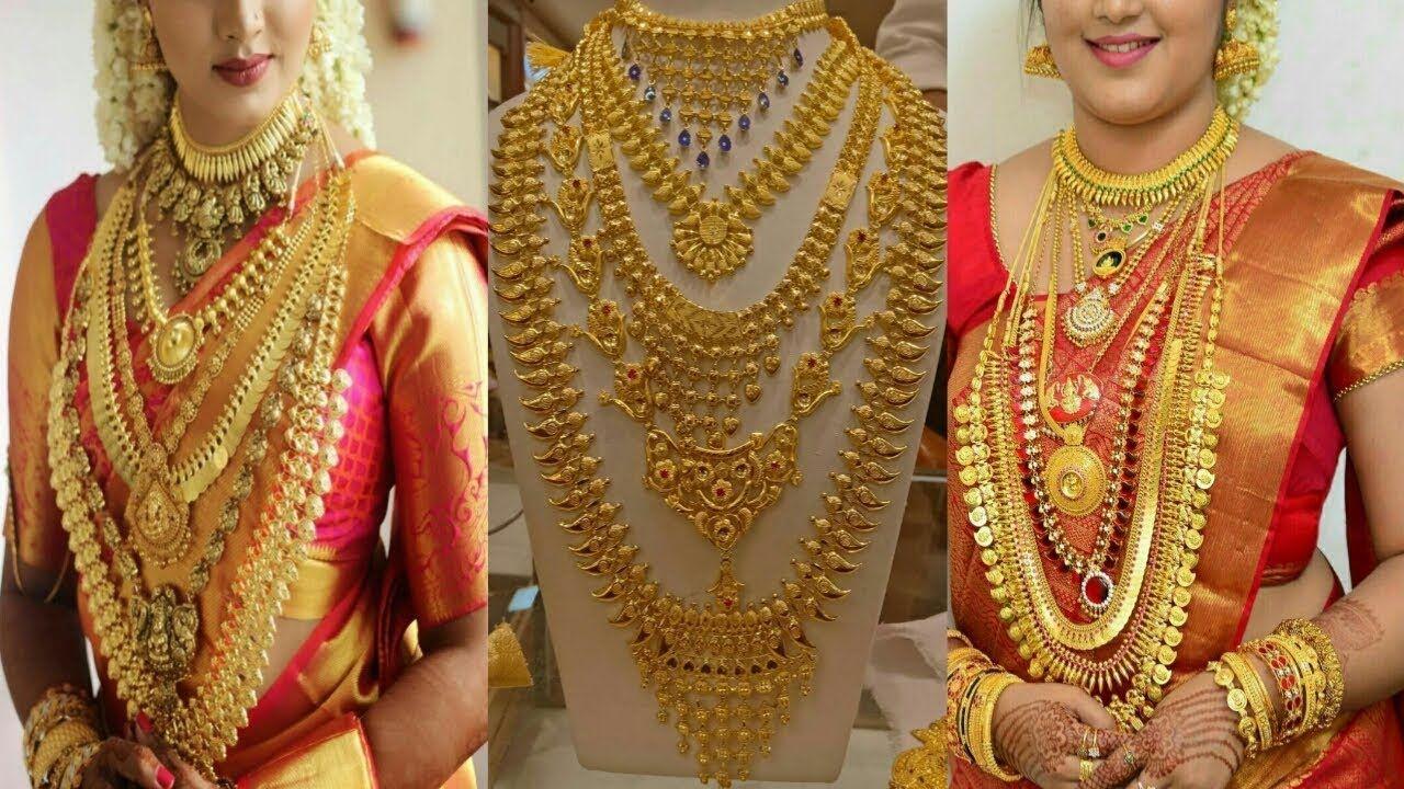 Keral Traditional Wedding Jewellery Set Latest Bridal Gold