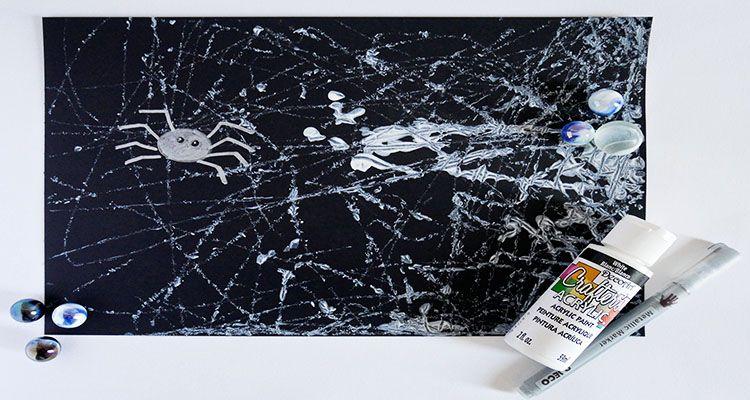 Marble Painting Spider Webs #marblepainting