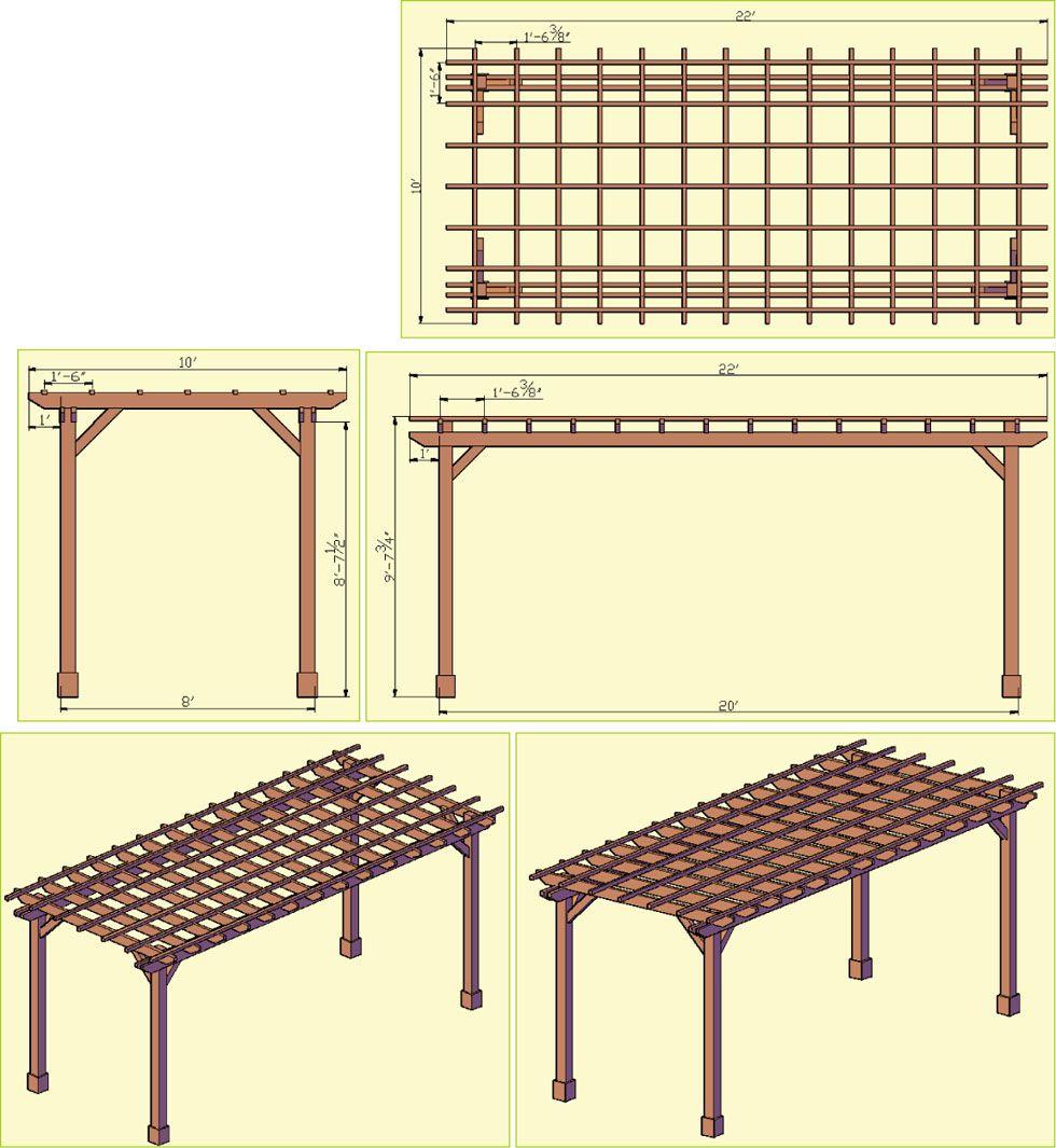 Pergola Designs Drawings: Pergola, Pergola Garden, House
