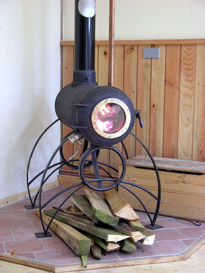 Gas bottle stove chimeneas hornos de barro y piedra for Fogones industriales a gas