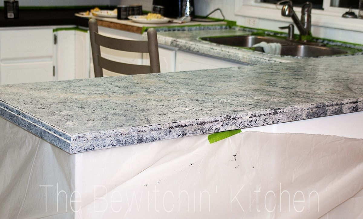 Painting Kitchen Countertops With Giani Granite Painting Kitchen Countertops Countertops Painted Countertops Diy