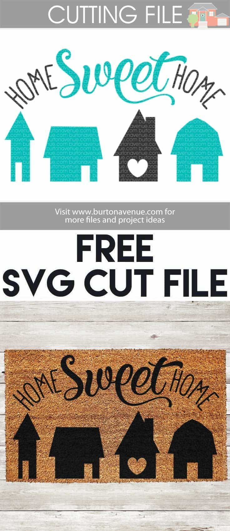 Pin on Free SVG Files from Burton Avenue. Works with